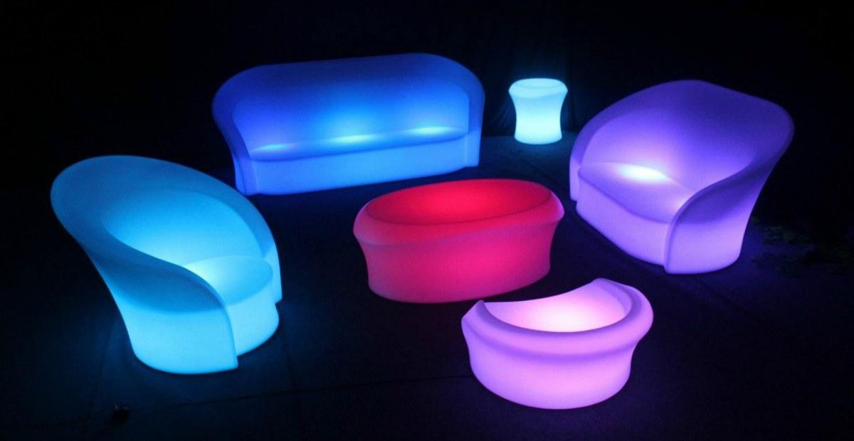 LED Мебель в Аренду от компании Mister Rent