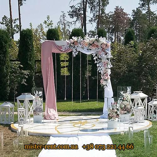 """Арка свадебная """"П""""-образная(прямоугольная) с цветами"""