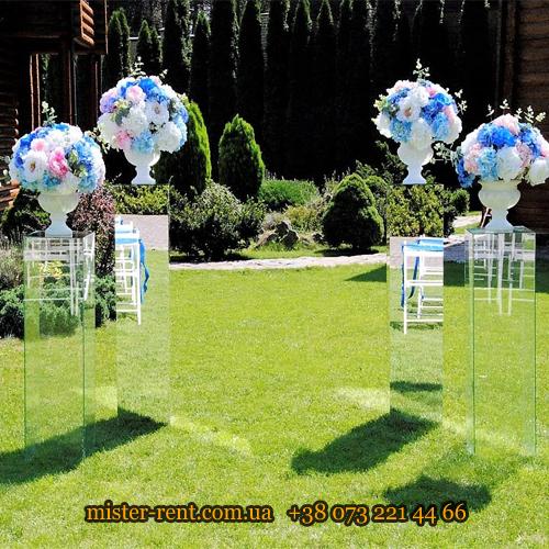 Стеклянные прозрачные колонны