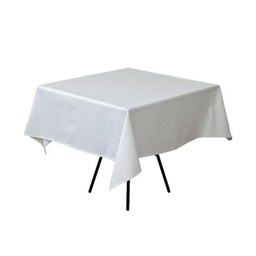 Скатерть 150х150 белого цвета